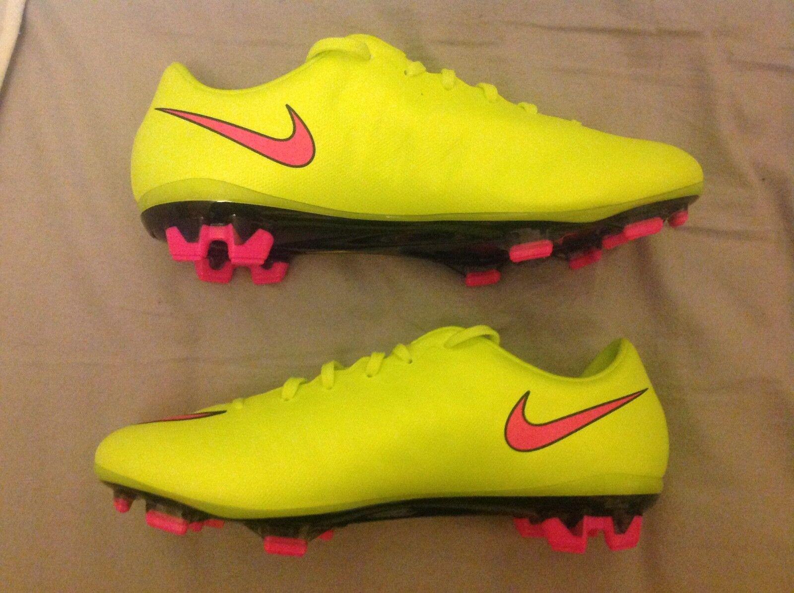 NIKE MERCURIAL FG FOOTBALL Stiefel UK 6 EUR 39 US US US 6.5 VOLT Gelb VAPOR SUPERFLY b529c0