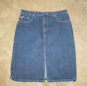 5866d5f89 Women's HYDRAULIC Denim Jean Skirt Size 6 / 8 Knee length   eBay