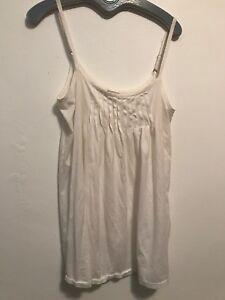 da Hanro Medium in 12 cotone Switzerland Of Sleepwear 10 Loungewear bianco notte Camicia SH44tqn