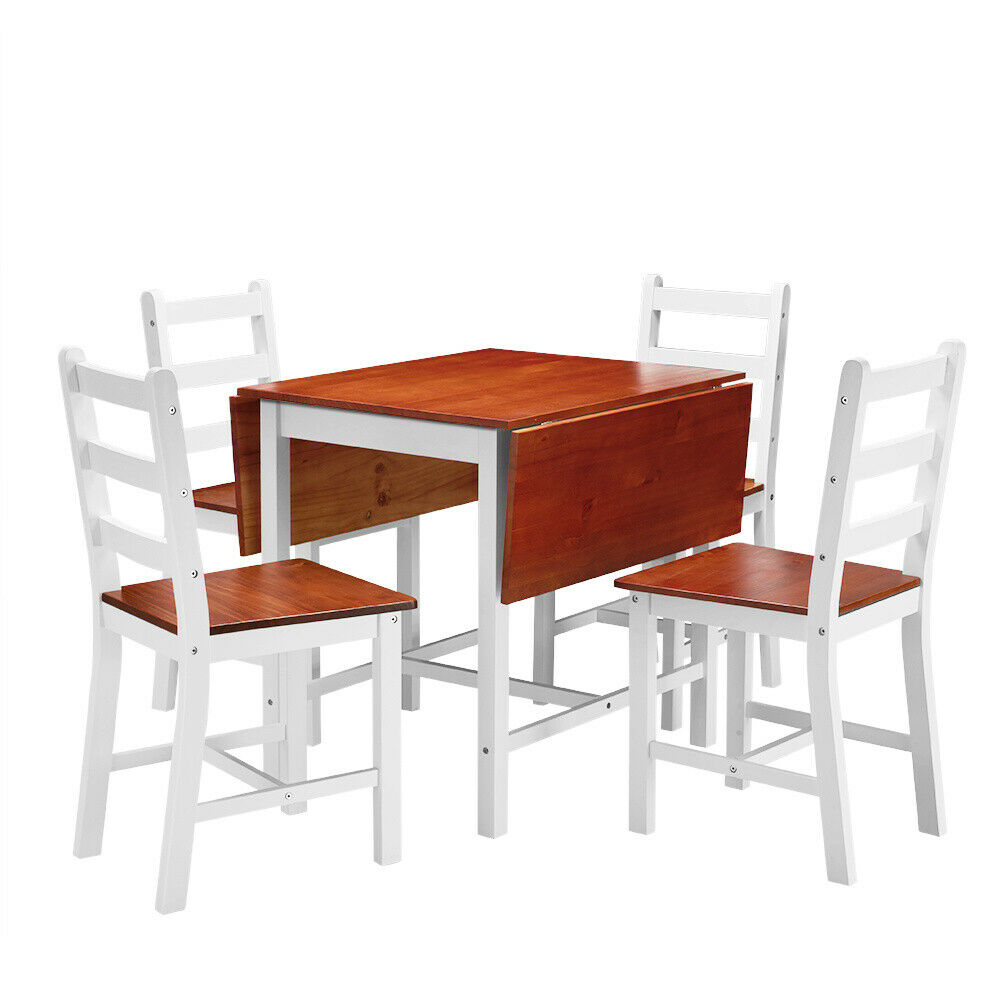 Compact Folding Dining Table And Chairs Kitchen Breakfast Dinner