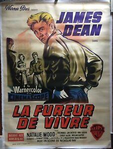 Affiche-entoilee-LA-FUREUR-DE-VIVRE-Rebel-without-a-cause-JAMES-DEAN-120x160cm