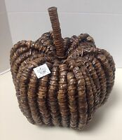 Pottery Barn Woven Seagrass Brown Pumpkin - With Tag