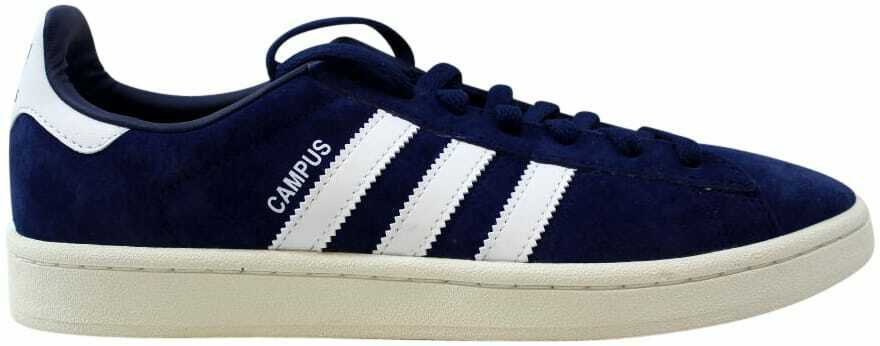 White Chalk bluee Dark Campus Adidas White Men's 9 Size