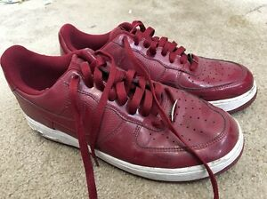 About Air Shoes 9 Crimson Red Nike Us Force 315122 1 Leather Sneakers Details Patent 601 Size PZuXki