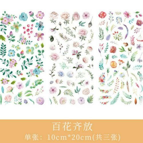 Cartoon Flower Leaf Paper Washi Stickers DIY Diary Sticker Scrapbook Stationery