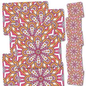 12-tlg-Kombi-Set-Untersetzer-Tischset-034-Boho-Style-034-Platzset-Bohemian