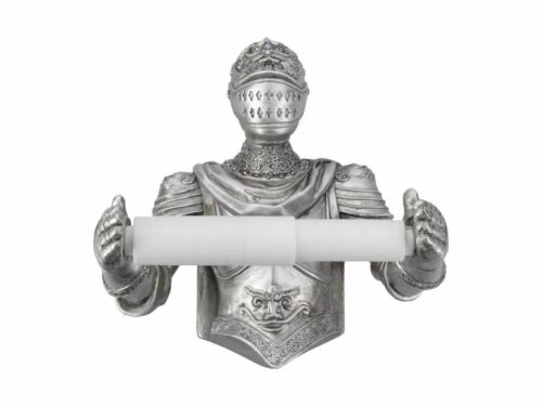 Medieval Knight Toilet Roll Holder Bathroom Toilet Ornament Decoration 20cm