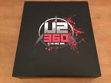 """DELUXE BOXSET DVD + BLURAY + CD + 7"""" + BOOK + PROGRAMME U2 360 AT THE ROSE BOWL"""