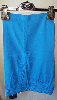 NWT New Paul & Shark Yachting Cotton Knee Length Shorts Blue E15P0400