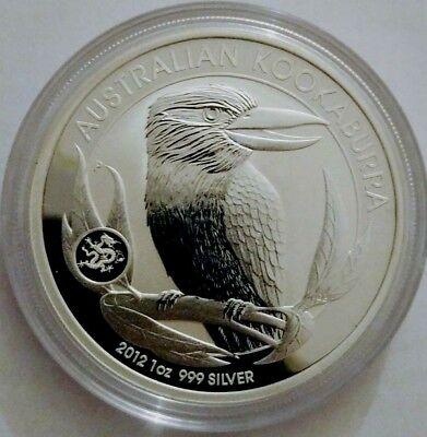 2008 Australian Kookaburra PM capsule 1 oz BU-ST Silver with round