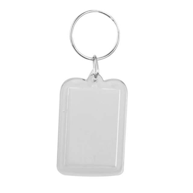 25x Blank Acrylic Keyrings 40x40mm Frame /& 34x34mm Photo key ring plastic 09012