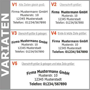 4-Zeilen-Aufkleber-Beschriftung-50-140cm-Werbung-Sticker-Werbebeschriftung-KfZ