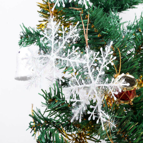 30pcs 6-18CM Classic White Snowflake Ornaments Christmas Tree Party Home Decor