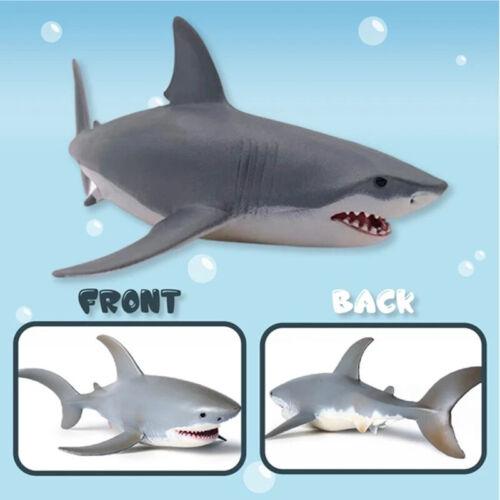 Lifelike Shark Shaped Toy Realistic Motion Simulation Animal Model for Kids NEW