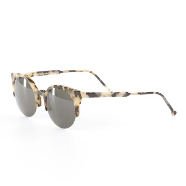 42d4819a103c79 RARE Super by RETROSUPERFUTURE Lucia Puma Sunglasses Round Cat Eye 285  Handmade