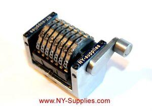 """New 3/16"""" Rotary 7 Digit Straight Forward Numbering Machine Heidelberg GTO"""