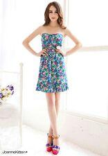 Joanne Kitten Colourful Floral Print Evening Tea Party Skater Mini Dress JK-8399