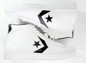 1fbb759a9bb New Mens Converse Pro Leather PL 76 Mid 157425C White Black