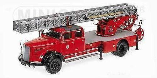 1 18 Minichamps Mercedes l6600 Aerial Ladder dl30 1950 Vigili del Fuoco Capo Girevole