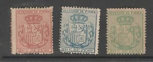 Spain Revenue stamp 4-2-21 no gum -Philippines Nicer most mnh or near mnh gum 7f