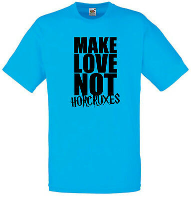 Make Love Not Horcruxes, Harry Potter inspired Men's Printed T-Shirt