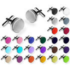 2 Pcs Vintage Stainless Steel Mens Wedding Party Gift Shirt Cuff Links Cufflinks