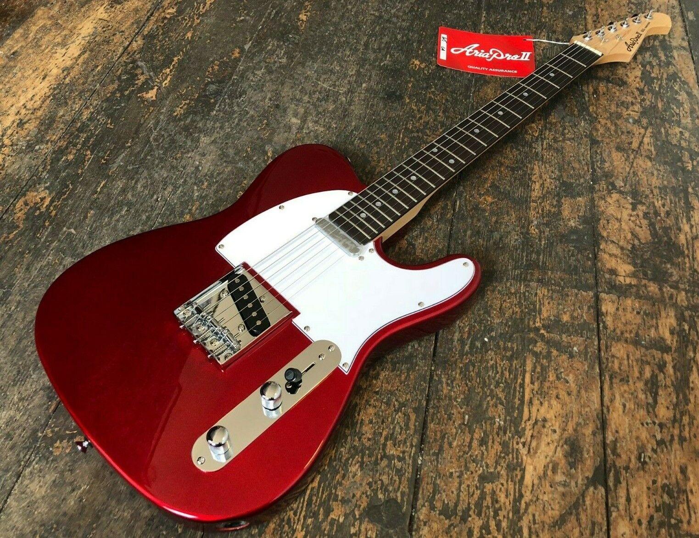 Aria 615 Frontier Ca E-Gitarre Paradiesäpfel Rot