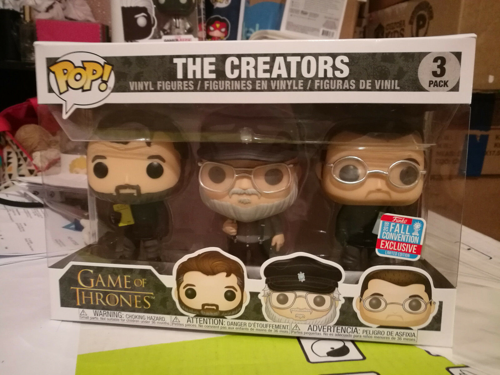 Game Of Thrones The Creators Creators Creators 3 Pack NYCC Fall Convention 2018 Exclusive 6996ea