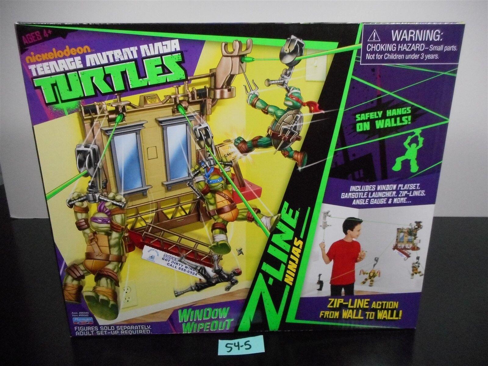 Como Nuevo Y Sellado    Teenage Mutant Ninja Turtles Nickelodeon Ventana Wipeout Zip-line Tortugas Ninja 54-5