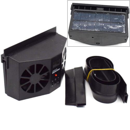 Everlasting Black Solar Dual Fan Car Front//Rear Window Air Vent Cool Cooler Fan