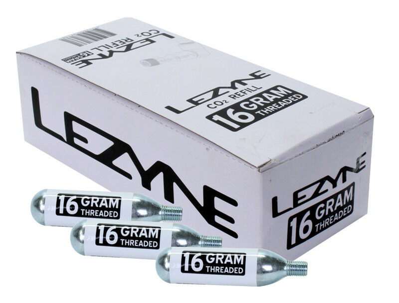Lezyne 16G Threaded Co2 Cartridge Pump Lez Co2 Cart 16g Thrd Bxof30