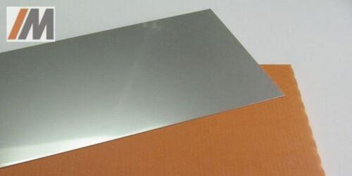 Set:Edelstahl CrNi-Stahl 1.4301; L//B 500mm//150mm; S 0,1-1,0mm Scotchbrite