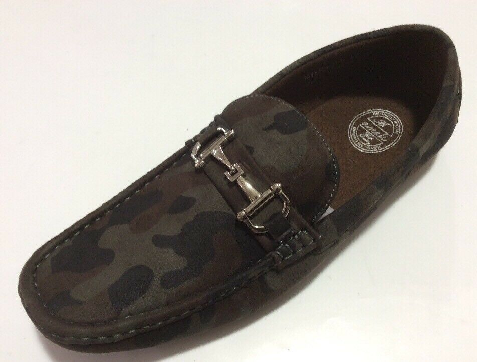 Mens Casual Driving Moccasins Amali Camouflage shoes Loafers Metallic Buckle New