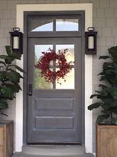 "4 Lite Paint Grade Poplar Entry Door 36"" x 80"" With Transom"
