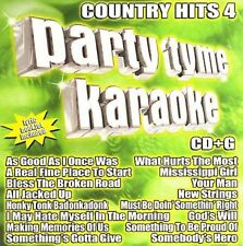 Party Tyme Karaoke: Country Hits, Vol. 4 by Sybersound (CD, Sep-2006, Sybersound Records)