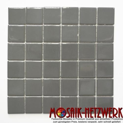 Mosaik Fliese Keramik metallgrau metallglänzend Wand Dusche 16B-0204_f 10 Matten