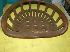 Vintage Bamlett Tractor Implement Seat Farm Original Genuine Cast Iron