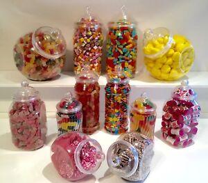 12 various victorian style food grade plastic sweet jars diy candy