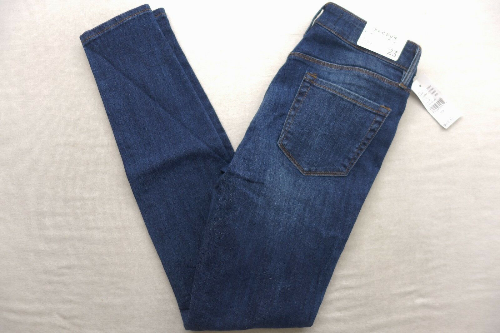 New Womens Pacsun Dark bluee Wash Mid Rise Skinniest Ankle Denim Jeans Sz 23 x 30