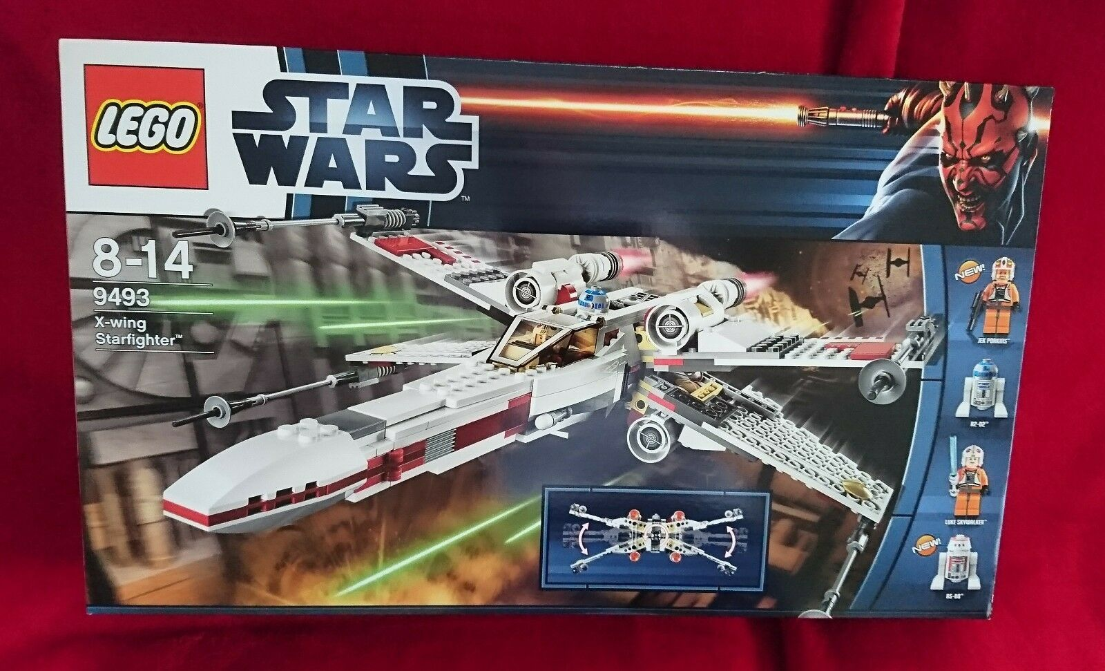 Star Wars Lego 9493  X-WING STARFIGHTER  Rare Jek Porkins R5-D8 New Sealed Box