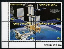 Space Raumfahrt 1986 Guinea Bissau Raumstation Space Shuttle 905-908 ZD MNH/1145
