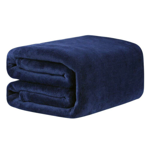 1x Deluxe Flannel Coral Warm Fleece Blanket Super Soft Adult Home Throw Sofa Bed