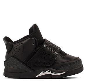 New Jordan Baby Son Of Mars TD Shoes (512244-010) Black Mtlc Silver ... 33b0a618e