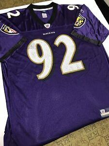 b67a92df6 REEBOK NFL BALTIMORE RAVENS HALOTI NGATA ADULT XL PURPLE JERSEY | eBay