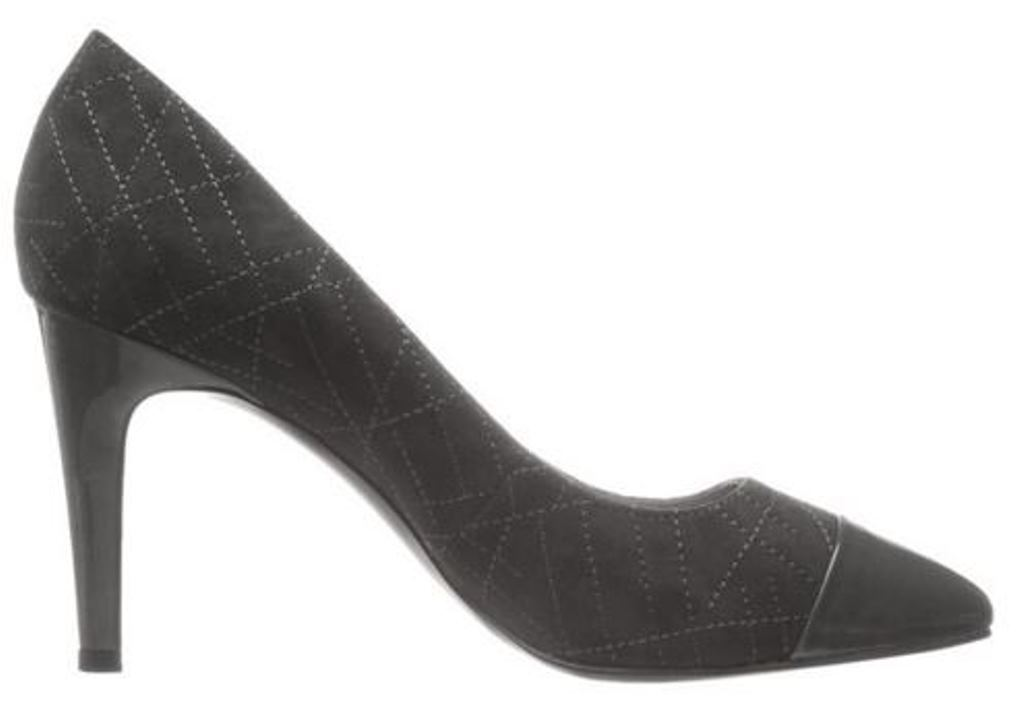 Women's shoes Tahari RYANNA Dress Pumps Almond Toe Leather-Suede Elephant GREY