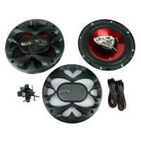 Boss 6.5 Inch 300 Watt 3-way Car Coaxial Audio Red Stereo Speakers Ch6530 (pair) on sale