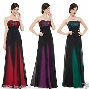 Long Chiffon Wedding Evening Formal Party Ball Gown Prom Bridesmaid Dress N50