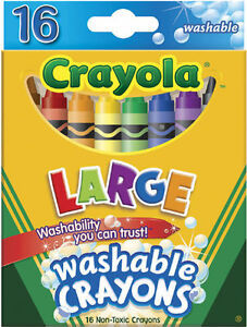 Crayola Ultra Clean Large Washable Crayons 16 Count Package 071662032814