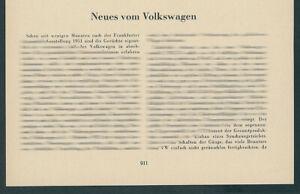 AUTO VW-Dischi carrello bulli t1 Volkswagen Transporter Wolfsburg ferrovia 1952