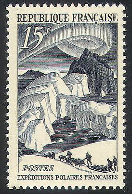 France 1949 Polar/Aurora/Dogs/Sleds/Transport 1v n31733